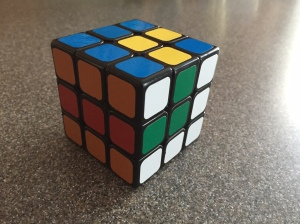 The snake pattern on my 3x3x3 cube.