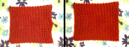 Avoid those half moons. They'll be permanent. In the second picture, I've stuck more pins in along the right side to correct this problem, but unfortunately it's slightly blurry.